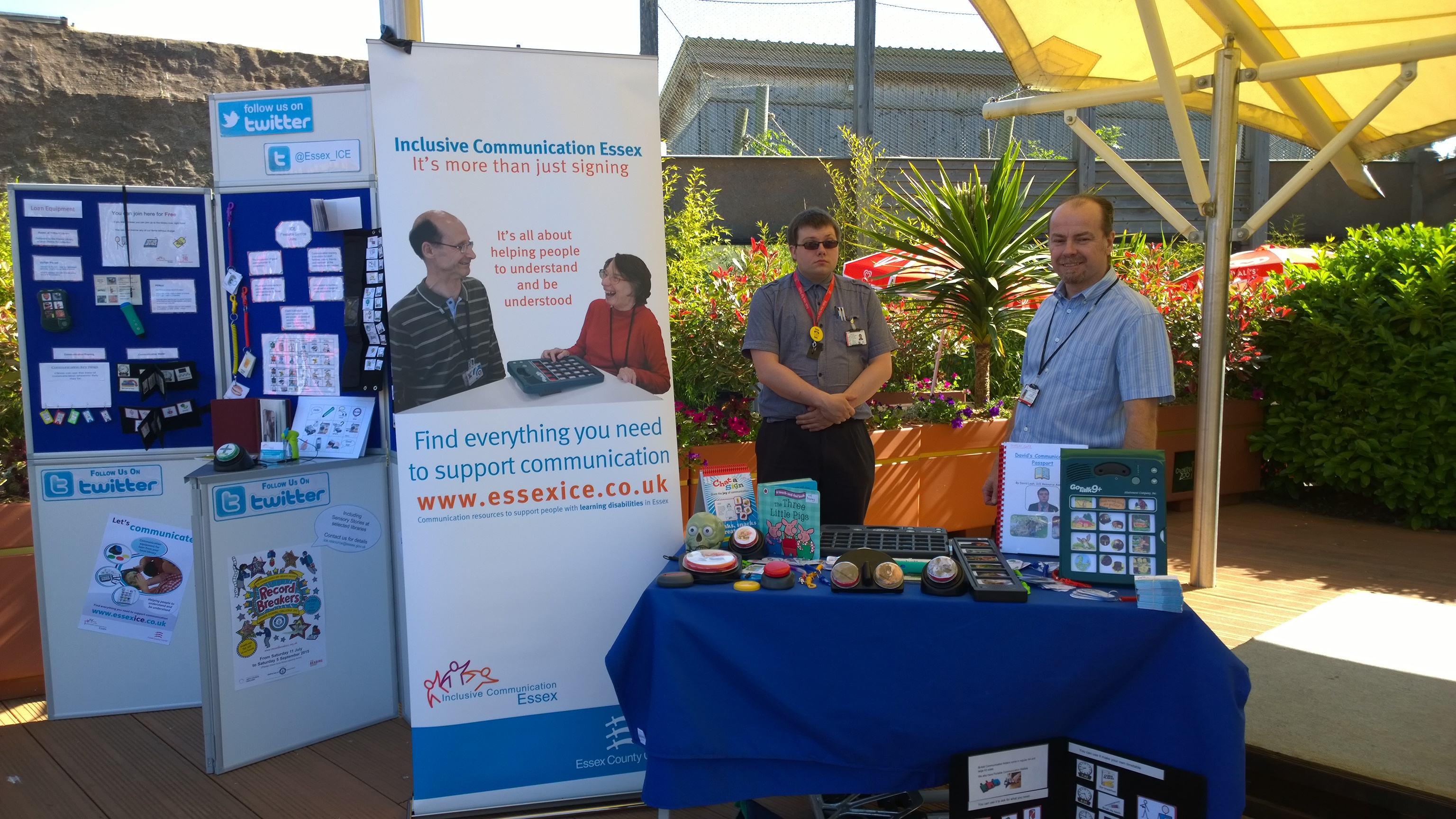 Inclusive Communication Essex display stand at Colchester Zoo